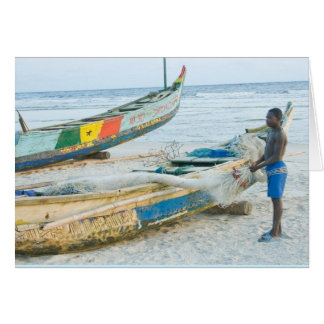 Notecard, Boy with Boat, Ivory Coast, West Africa Card