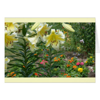 notecard, Colorful Mixed Floral Greeting Card
