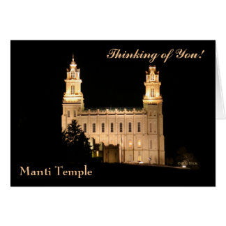 NoteCard-Manti Temple at Night Card