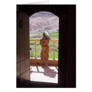Notecard:Moroccan Woman High Atlas Mountains Card