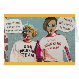 NOTECARD-SWEET AND SASSY AND NEVER CLASSY CARD