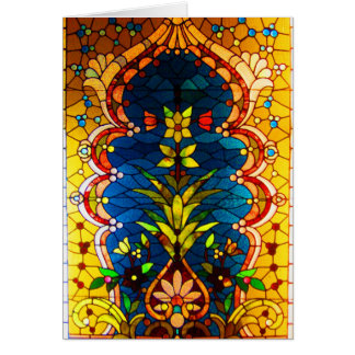 Notecard-Vintage Stained Glass Art-19 Card