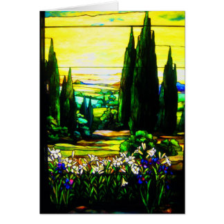 Notecard-Vintage Stained Glass Art-5 Card