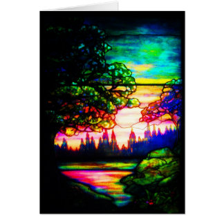 Notecard-Vintage Stained Glass Art-6 Card