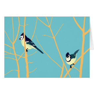 Notecard with bluejay design