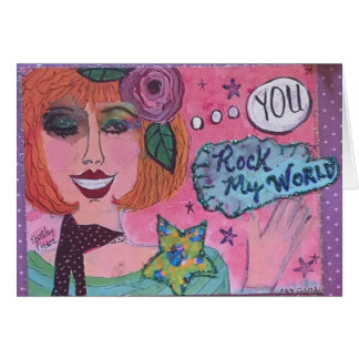 NOTECARD-YOU ROCK MY WORLD CARD