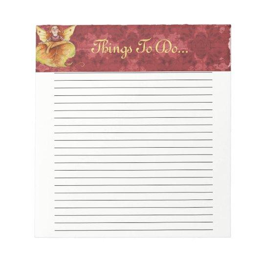 Notepad, Autumn Fairy. Notepad