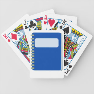 Notepad Bicycle Playing Cards