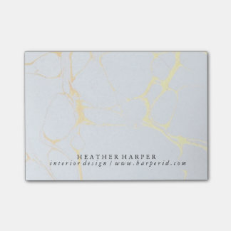 Notepad - Blue & Gold Marble