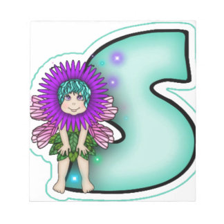 Notepad Cute Fairy Initial Letter S