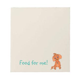 Notepad Dog Food - Happy