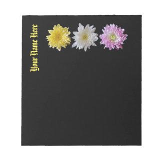 Notepad Flower Design Customizable