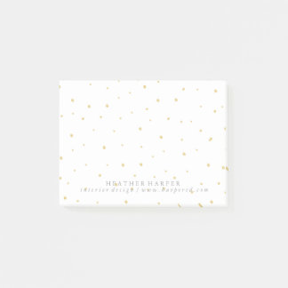 Notepad - Gold Dots White
