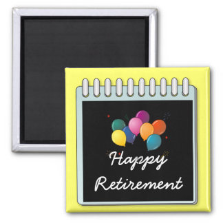 "Notepad: ""Happy Retirement"" note Magnet"