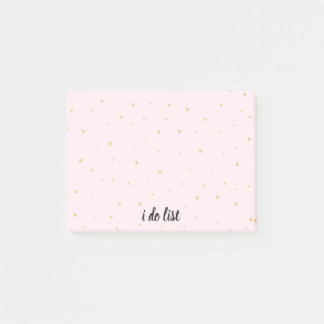 Notepad - i do list Gold Dots Pink