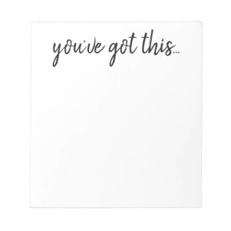 Notepad - Inspiration you've got this