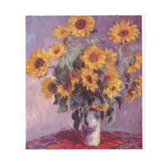 NOTEPAD- MONET SUNFLOWERS NOTEPAD