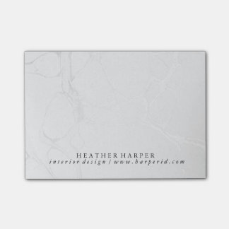 Notepad - Silver Marble