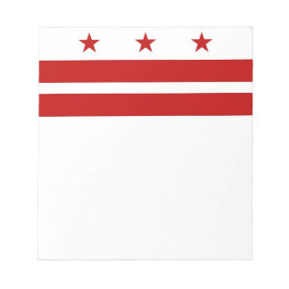Notepad with Flag of Washington DC