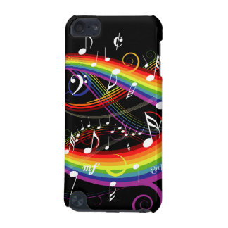 Notes blanches de musique d'arc-en-ciel sur le coque iPod touch 5G