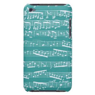 Notes bleues de musique d'Aqua Coque iPod Touch Case-Mate