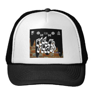 NOTES BRICK BACKGROUND PRODUCTS MESH HAT
