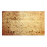 Notes classiques antiques de musique