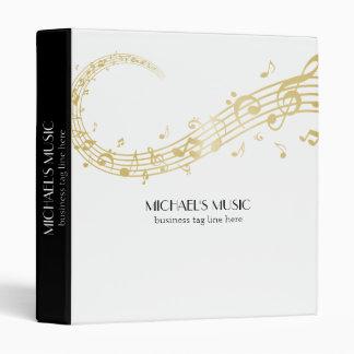 Notes de marquage à chaud de musique d'or classeurs