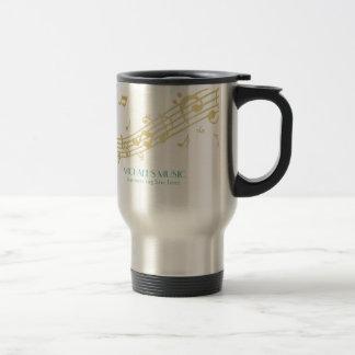 Notes de marquage à chaud de musique d'or mug de voyage en acier inoxydable