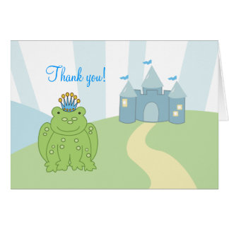 Notes de Merci de prince Folded de grenouille Carte De Correspondance