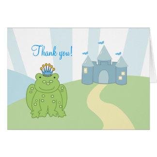 Notes de Merci de prince Folded de grenouille Carte De Correspondance
