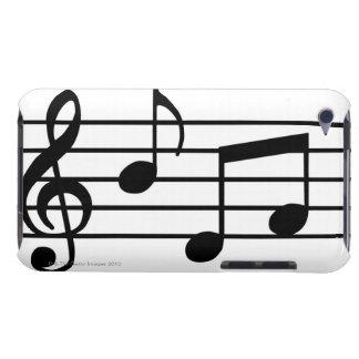 Notes de musique étuis barely there iPod