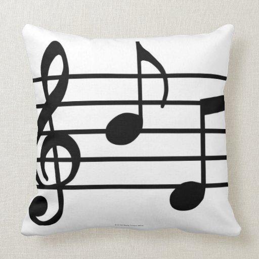 Notes de musique oreillers