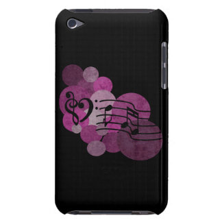 Notes de musique et pois - caisse rose d'iPod Coque iPod Touch Case-Mate