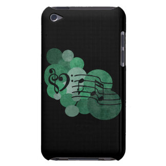 Notes de musique et pois - caisse verte d'iPod Coques iPod Touch
