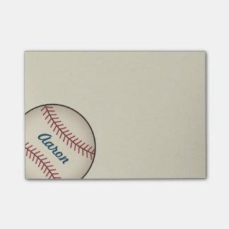 Notes de post-it personnalisées de base-ball notes post-it