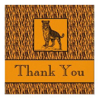 Notes exécutives de Merci d'impression de tigre Carton D'invitation 13,33 Cm