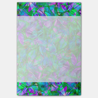 Notes Floral Abstract Stained Glass