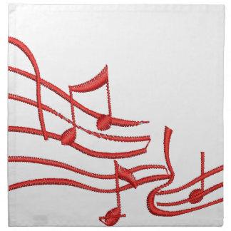notes imitation of embroidery napkin