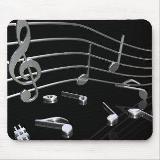 Notes, music, black. Mousepad - mouse PAD