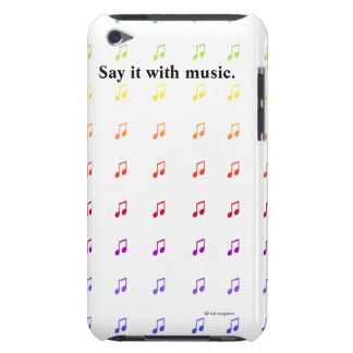 Notes musicales d'arc-en-ciel coque iPod touch