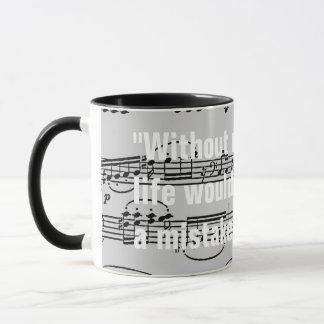 notes musicales et citation