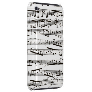 Notes musicales noires et blanches coques iPod touch