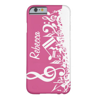 Notes musicales personnalisées roses indien et coque iPhone 6 barely there