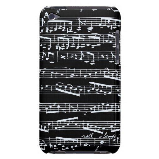 Notes noires et blanches de musique coque iPod Case-Mate