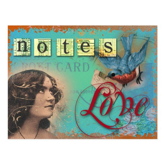 notes postcard
