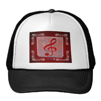 NOTES RED CUSTOMIZABLE PRODUCTS TRUCKER HAT