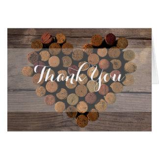 Notes rustiques de Merci de liège de vin