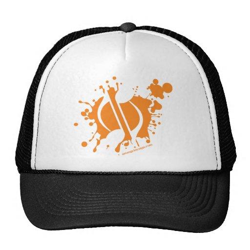 Notes Splatter Mesh Hats
