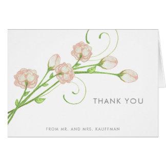 Notes vintages de Merci de roses de jardin Carte De Correspondance